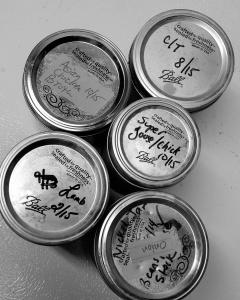 jars ready.broth
