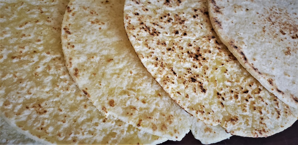 Where my quest succeeds  to find a gluten free flatbread that could also be used as a wrap for sandwiches for an upcoming canoe trip . . .